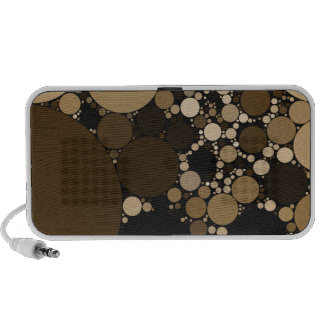 Chocolate Polkadot Pattern Mini Speakers