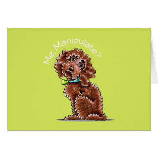 Chocolate Poodle Mix Me Manipulate Card
