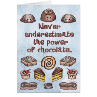 Chocolate Power Notecard