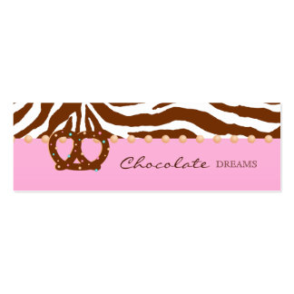 Chocolate Pretzel Bakery Bookmark Price Tag Pack Of Skinny Business Cards