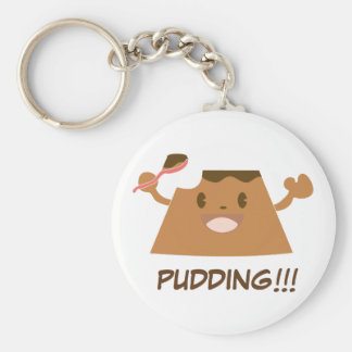 Chocolate PUDDING!!!! Basic Round Button Key Ring