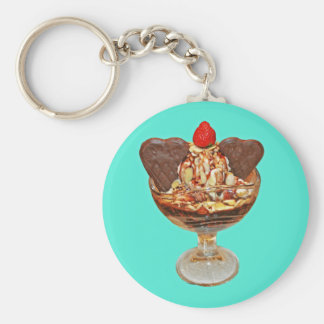 Chocolate Pudding Basic Round Button Key Ring