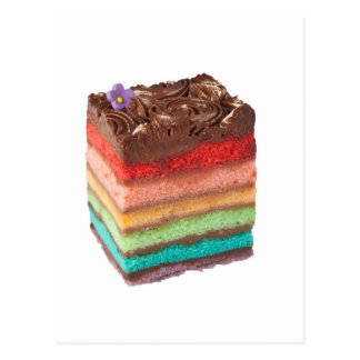 Chocolate Rainbow cake Postcard