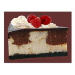Chocolate Raspberry Cheesecake Recipe Card