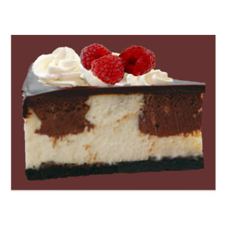 Chocolate Raspberry Cheesecake Recipe Card Post Card