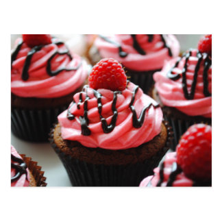Chocolate Raspberry Cupcake Postcard