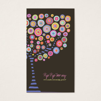 Chocolate Retro Circle Tree Online Store Card