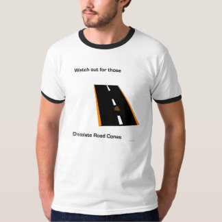 Chocolate Road Cones Mens T-Shirt