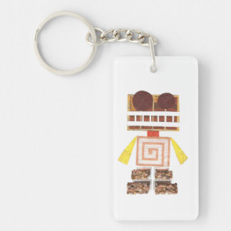 Chocolate Robot Double Sided Keyring