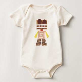 Chocolate Robot Organic Babygro Baby Bodysuit