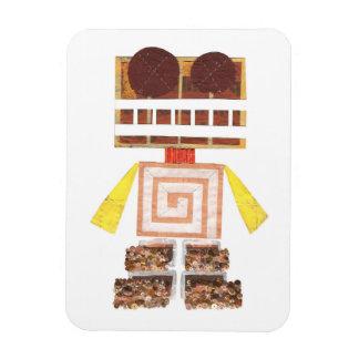 Chocolate Robot Photo Magnet