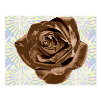 Chocolate Rose pattern collection Post Cards