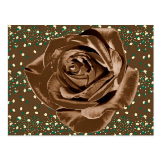 """""""Chocolate Rose"""" pattern collection Postcard"""