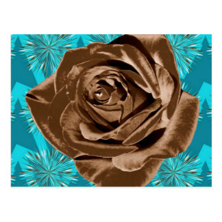 """Chocolate Rose"" pattern collection Postcard"