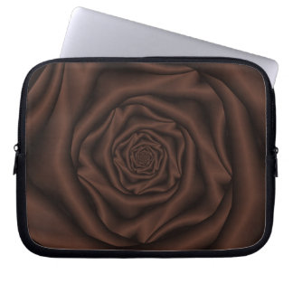 Chocolate Rose Spiral Laptop Sleeve