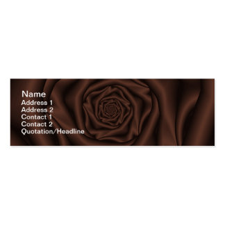 """Chocolate Rose Spiral Skinny, 3"""" x 1"""", 20 pack Pack Of Skinny Business Cards"""