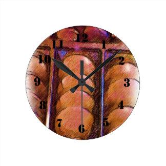 Chocolate Round Clock