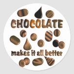 Chocolate Round Sticker