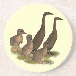 Chocolate Runner Duck Family Coaster