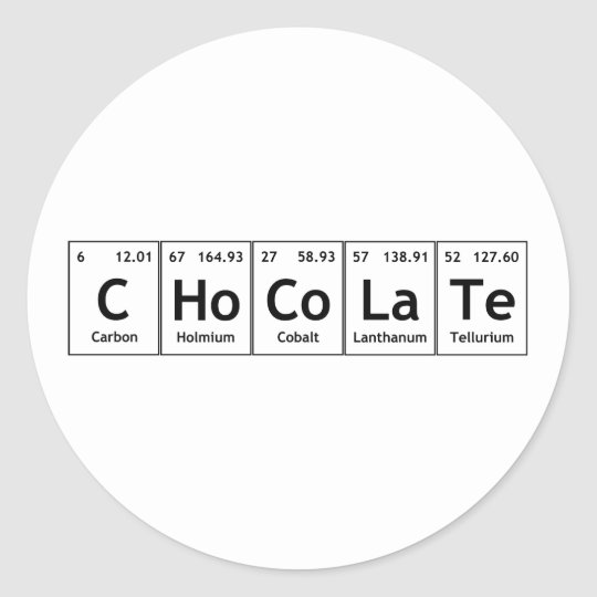 Chocolate science periodic table words elements classic round chocolate science periodic table words elements classic round sticker urtaz Image collections