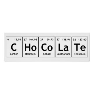 CHoCoLaTe Science Periodic Table Words Elements Poster