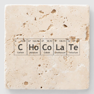 Words made from periodic table gifts t shirts art posters chocolate science periodic table words elements stone coaster urtaz Choice Image