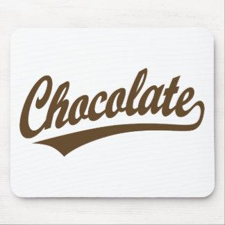 Chocolate script logo mouse pad