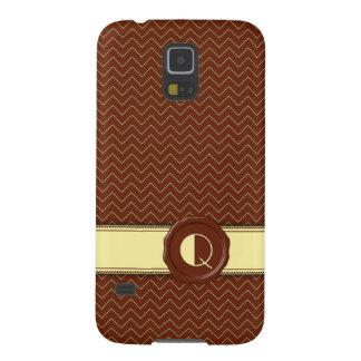 Chocolate Shop Monogram - Mint Chevron - Q Galaxy S5 Case