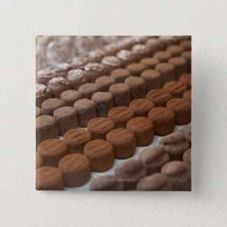chocolate shop store display of chocolate 15 cm square badge