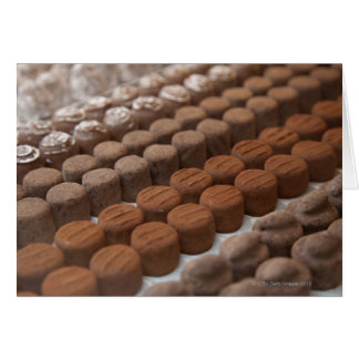 chocolate shop store display of chocolate card