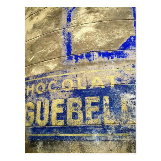 Chocolate Sign Postcard