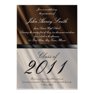 Chocolate Silk 2 Graduation Invitation