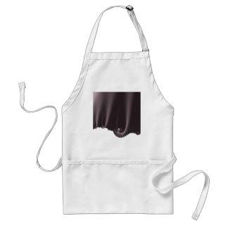 Chocolate Silk Drapes Standard Apron