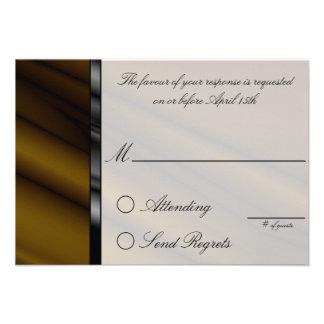 Chocolate Silk Reply Card Invites