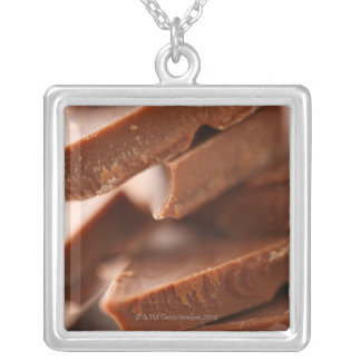 Chocolate Silver Plated Necklace