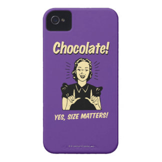 Chocolate: Size Matters Case-Mate iPhone 4 Cases
