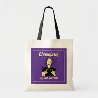 Chocolate: Size Matters Tote Bag