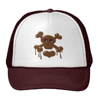 Chocolate Skull and Crossbones Cap