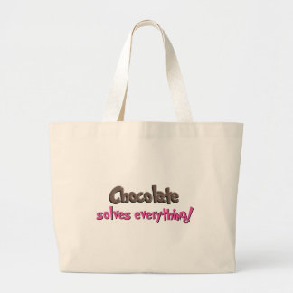 Chocolate solves everything! canvas bags
