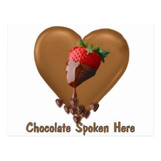 Chocolate Spoken Here Postcard