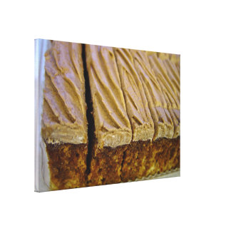 Chocolate sponge cake with chocolate buttercream stretched canvas prints
