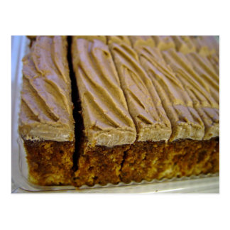 Chocolate sponge cake with chocolate buttercream postcard