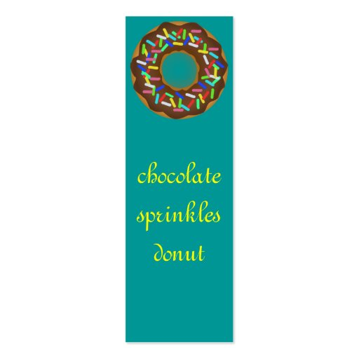 chocolate sprinkle donut business card templates