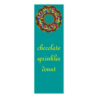 chocolate sprinkle donut pack of skinny business cards