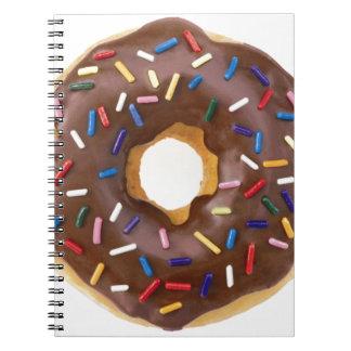 Chocolate Sprinkle Doughnut Notebook