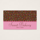 Chocolate Sprinkles Bakery Business Card