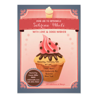 Chocolate Sprinkles Bridal Shower Invitation