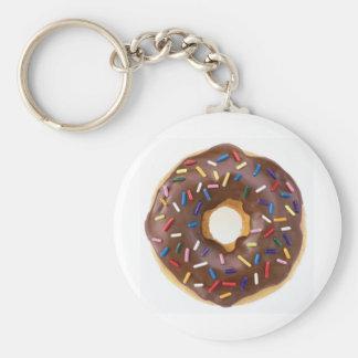 Chocolate Sprinkles Doughnut Key Ring