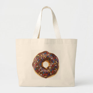 Chocolate Sprinkles Doughnut Large Tote Bag