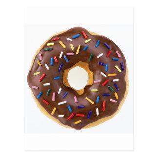 Chocolate Sprinkles Doughnut Postcard